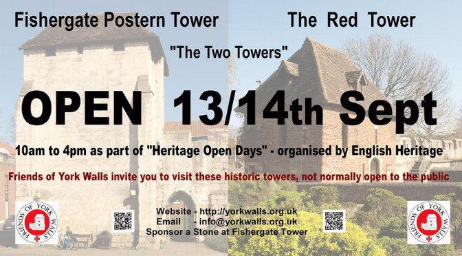 Towers to Open Weekend of 13th Sept 2014