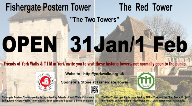 Fishergate Postern Tower & Red Tower open at York Residents Weekend 2015
