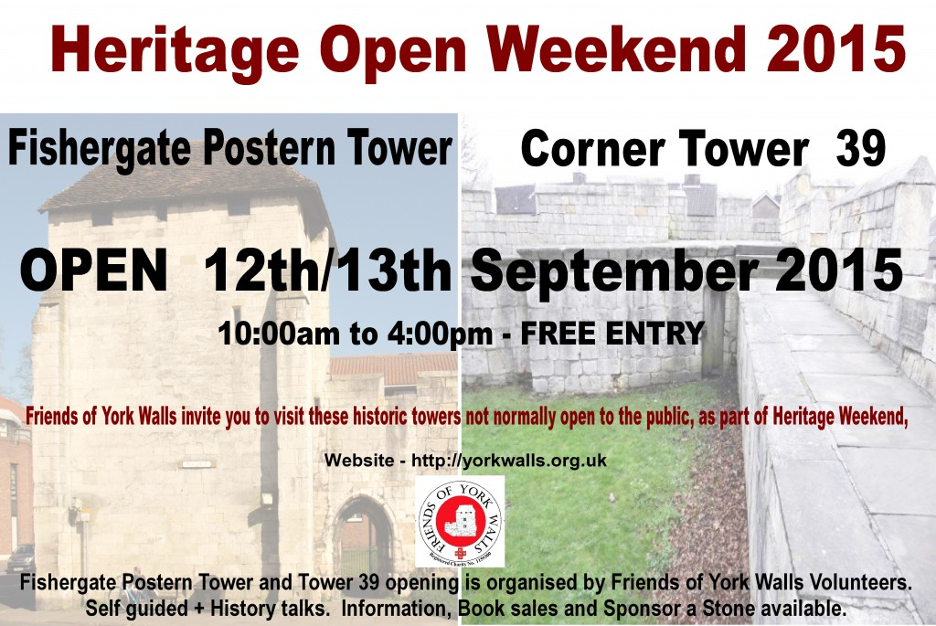 Heritage Weekend 12and13 Sept 2015